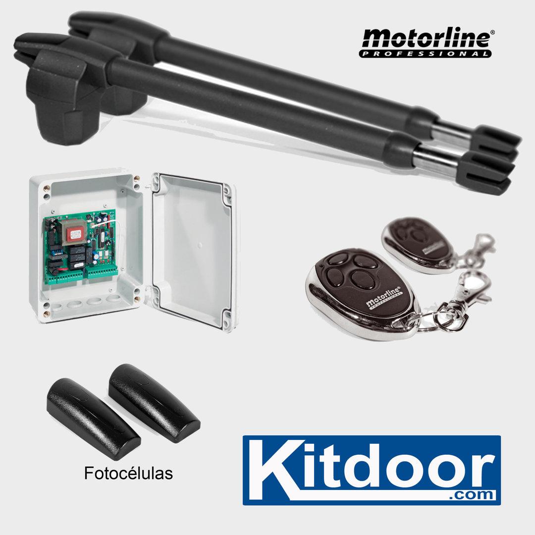 Kit puerta 2 hojas batientes lince400 kitdoor - Motor puerta batiente 2 hojas ...
