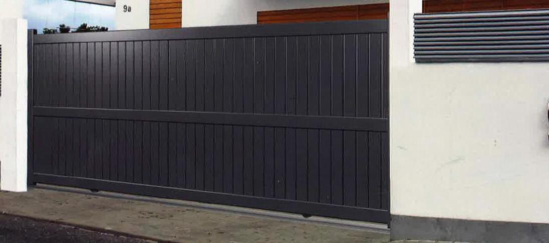 Puertas correderas en aluminio kitdoor for Puerta zaguan aluminio