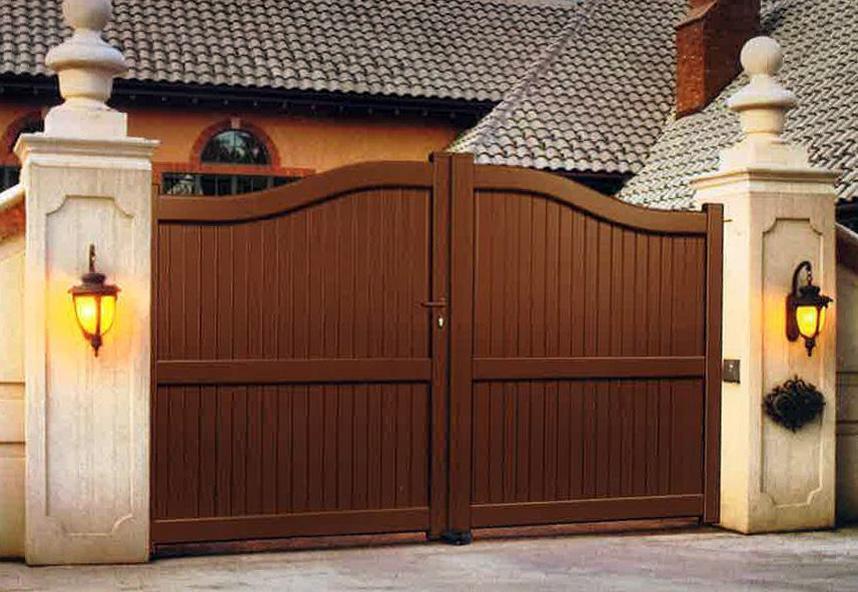 Puertas batientes en aluminio kitdoor - Puerta garaje abatible ...