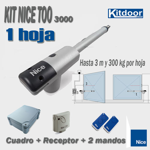 KIT 1 HOJA BATIENTE NICE TOO3000