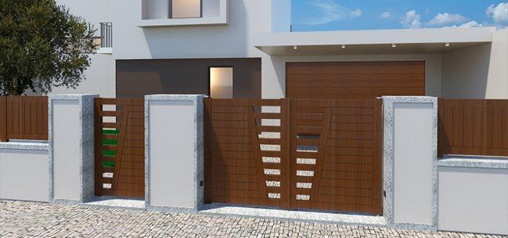 Puertas correderas en aluminio kitdoor for Puerta corredera exterior jardin
